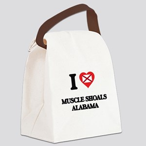 I love Muscle Shoals Alabama Canvas Lunch Bag
