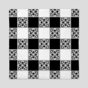 Checkered Pattern Queen Duvet