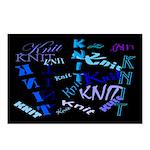 Knit Blue Dark Postcards (Package of 8)