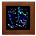 Knit Blue Dark Framed Tile