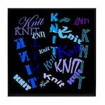 Knit Blue Dark Tile Coaster