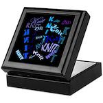 Knit Blue Dark Keepsake Box