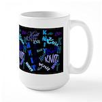 Knit Blue Dark Large Mug