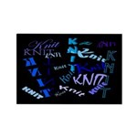 Knit Blue Dark Rectangle Magnet