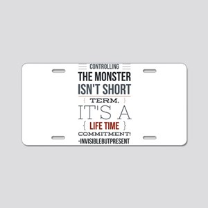 Controlling the monster © Aluminum License Plate