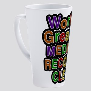 World's Greatest MEDICAL RECORDS CLERK Latte Mug