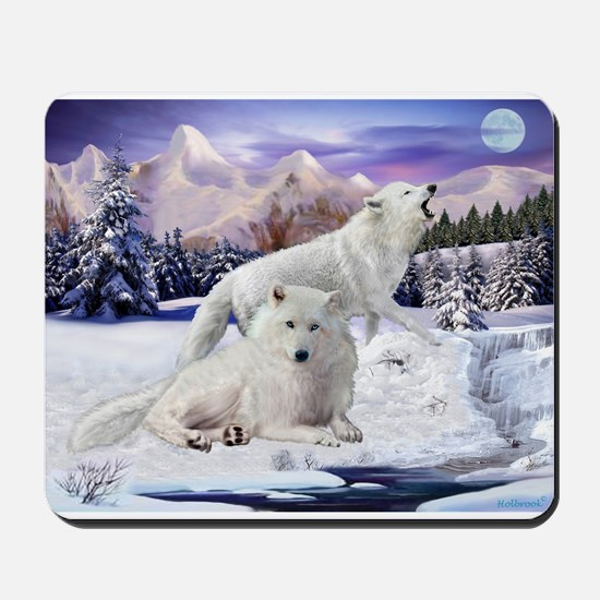 Snow Wolves Of The Wild Mousepad