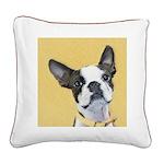 Boston Terrier Square Canvas Pillow