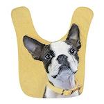 Boston Terrier Polyester Baby Bib
