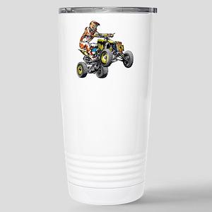 ATV Quad Racer Freestyl Stainless Steel Travel Mug