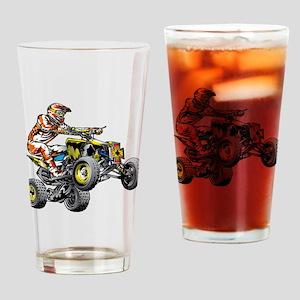 ATV Quad Racer Freestyle Drinking Glass