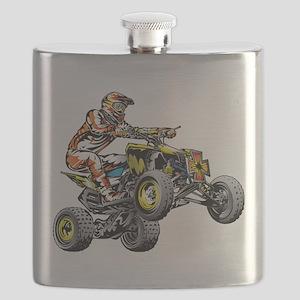 ATV Quad Racer Freestyle Flask