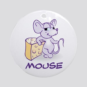 Baby Mouse With Cheese Ornament (Round)