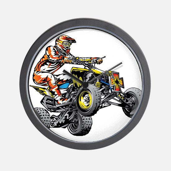 ATV Quad Racer Freestyle Wall Clock