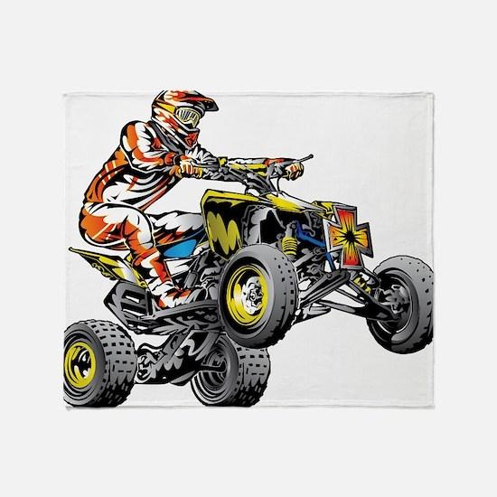ATV Quad Racer Freestyle Throw Blanket