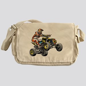 ATV Quad Racer Freestyle Messenger Bag