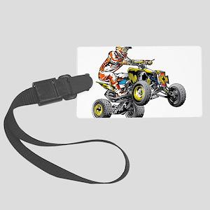 ATV Quad Racer Freestyle Large Luggage Tag