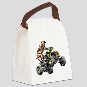 ATV Quad Racer Freestyle Canvas Lunch Bag