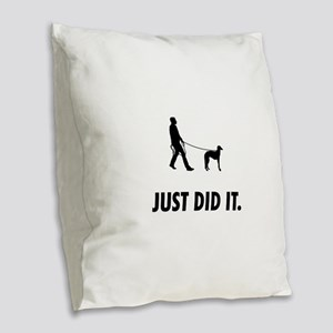 Scottish Deerhound Burlap Throw Pillow