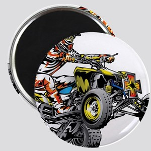 ATV Quad Racer Freestyle Magnets