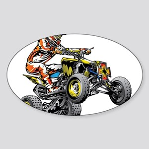 ATV Quad Racer Freestyle Sticker