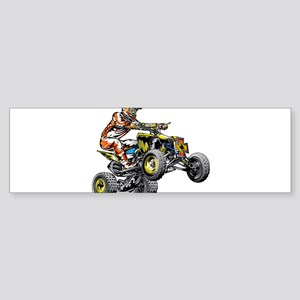 ATV Quad Racer Freestyle Bumper Sticker