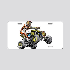 ATV Quad Racer Freestyle Aluminum License Plate