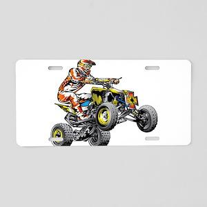 ATV Quad Racer Freestyle Aluminum License Plate