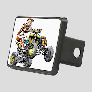 ATV Quad Racer Freestyle Rectangular Hitch Cover