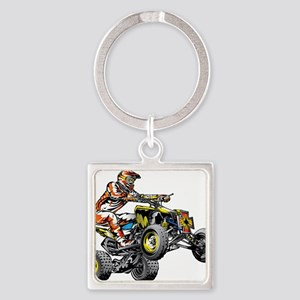 ATV Quad Racer Freestyle Keychains