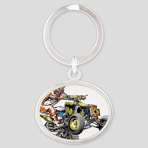 ATV Quad Racer Freestyle Keychains
