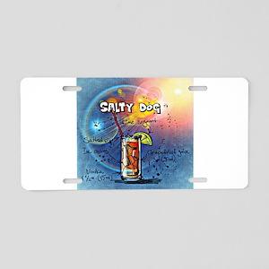 Salty Dog (Blue) Aluminum License Plate