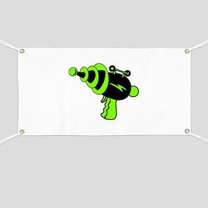 Neon Green Ray Gun Banner