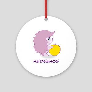 Cute Baby Hedgehog Ornament (Round)