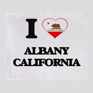 I love Albany California Throw Blanket