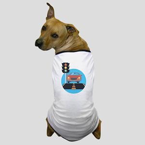 Car at Stop Light Dog T-Shirt