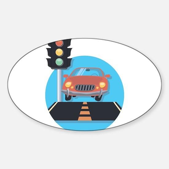 Car at Stop Light Decal