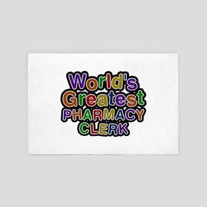 World's Greatest PHARMACY CLERK 4x6 Rug