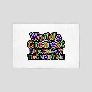 World's Greatest PHARMACY TECHNICIAN 4x6 Rug