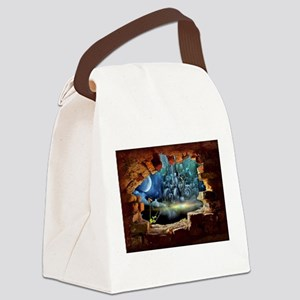 Hole in the Wall Graffiti Canvas Lunch Bag