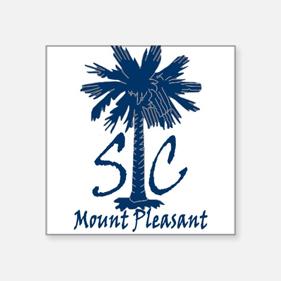 "Mount Pleasant Square Sticker 3"" x 3"""