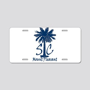 Mount Pleasant Aluminum License Plate