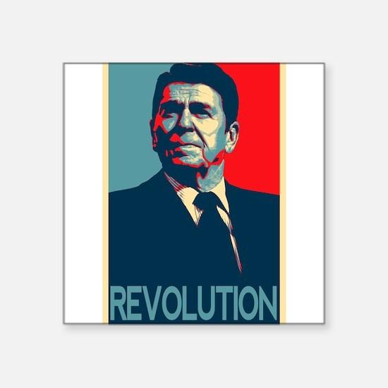 """Cute Reagan revolution Square Sticker 3"""" x 3"""""""
