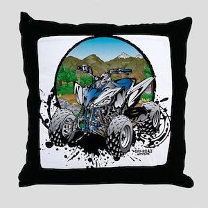 ATV Quad Mountain Rider Throw Pillow