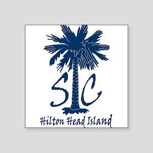 """Hilton Head Island Square Sticker 3"""" x 3"""""""