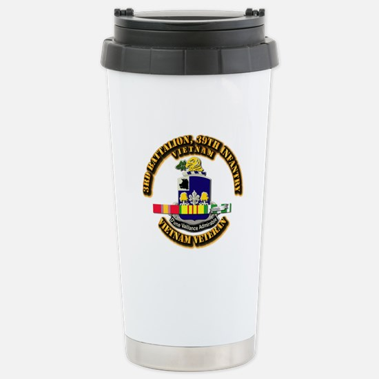36th Infantry - 9th Inf Stainless Steel Travel Mug