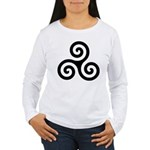 Triskele Symbol (Triple Spiral) Women's Long Sleev
