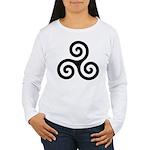 Triskele Symbol (Triple Spiral) Women's Long Sleev