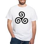 Triskele Symbol (Triple Spiral) White T-Shirt
