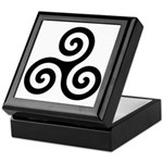 Triskele Symbol (Triple Spiral) Keepsake Box
